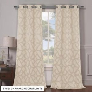 HEAVY WOVEN TRIPLE LAYERED BLACKOUT CURTAINS